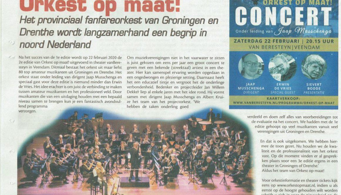 Orkest op maat 2020 Oldambt Nieuws